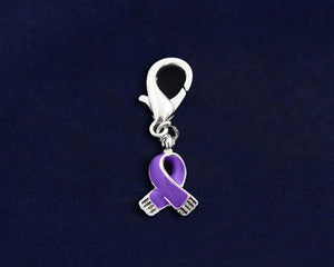 Purple Ribbon Hanging Charm for Awareness Causes - The House of Awareness