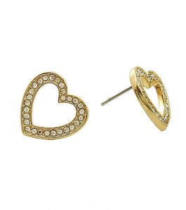 Gold Heart Stud Earrings , Women - Jewelry - Earrings - The House of Awareness, The House of Awareness  - 1