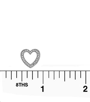 Rhodium Heart Stud Earrings for Valentine's Day - The House of Awareness