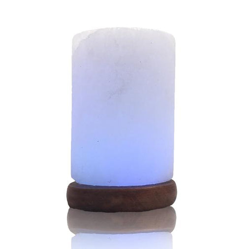 Himalayan Salt Cylinder USB Lamp - The House of Awareness