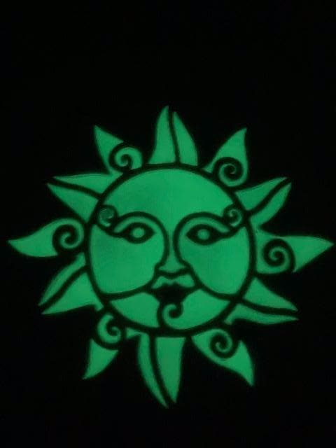 Sun Face Glow Decorative Garden Stone