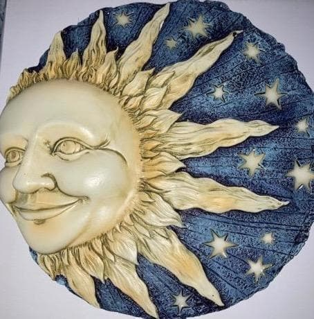 Sun and Stars Glow Decorative Garden Stone