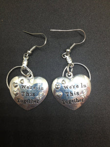We're In This Together Small Hooped Earrings for Autism ,  - The House of Awareness, The House of Awareness  - 1