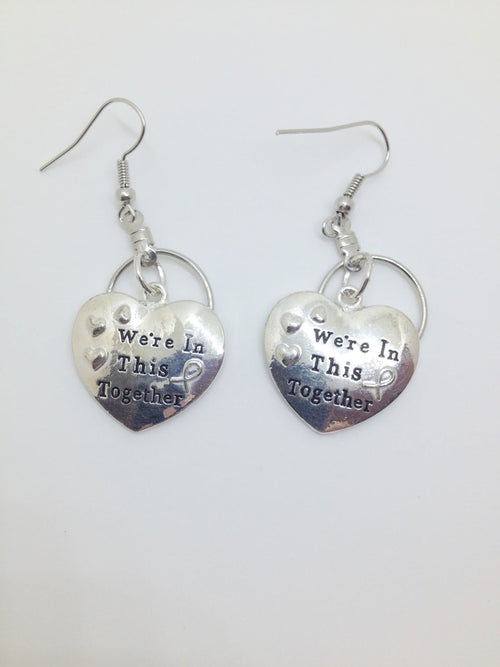 We're In This Together Small Hooped Earrings for Autism - The House of Awareness