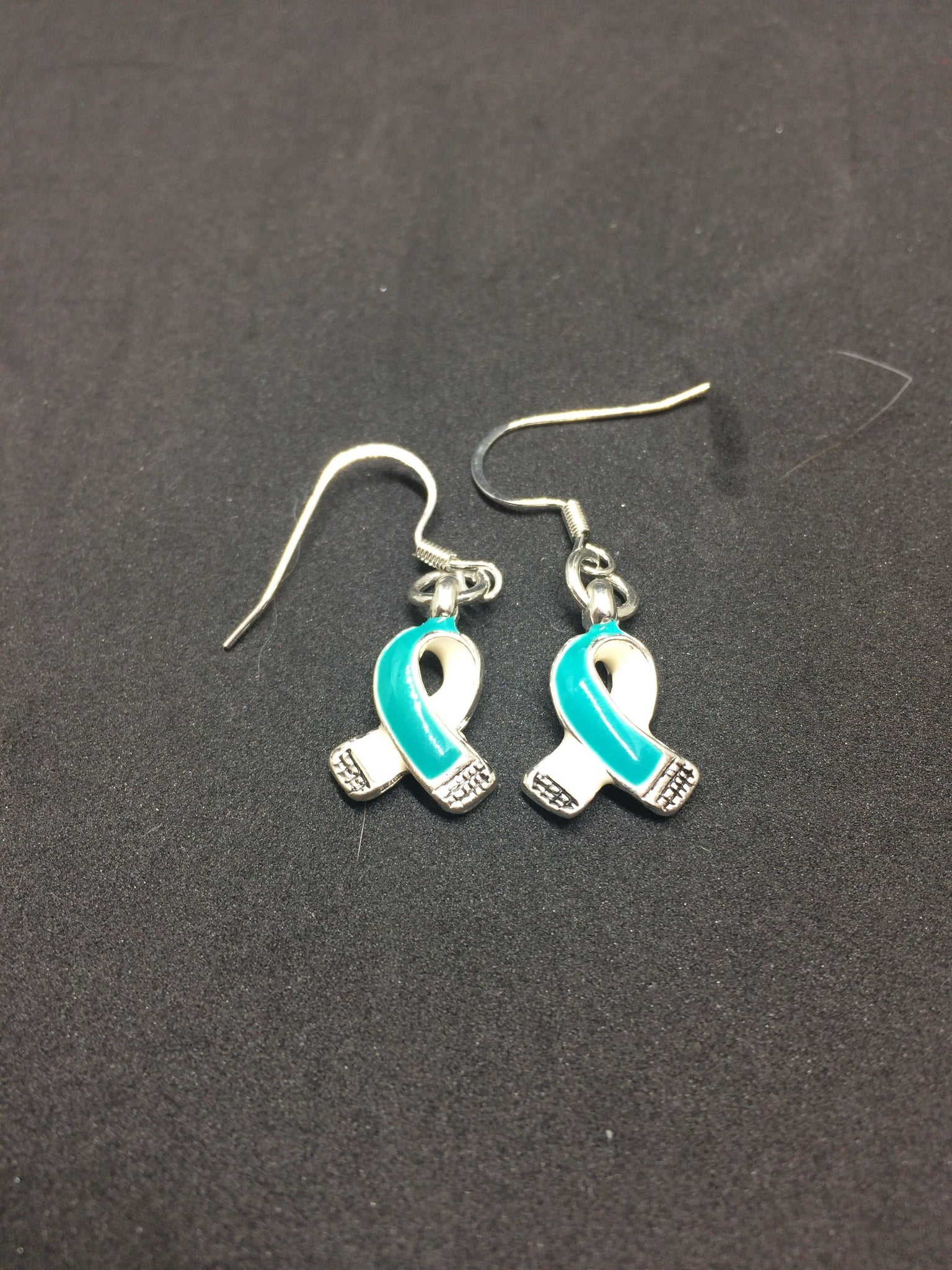 Teal ribbon charm earrings for cancer awareness the house of teal ribbon charm earrings for cancer awareness the house of awareness buycottarizona