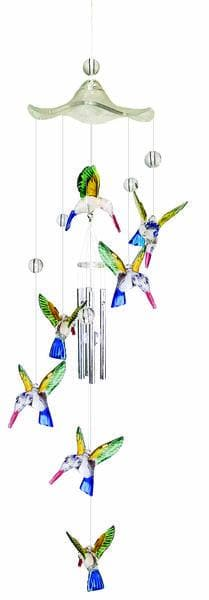 Colorful Hummingbird Wind Chime
