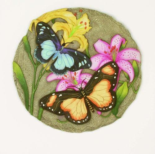 Two Butterfly Decorative Garden Stone