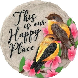This is our Happy Place Decorative Garden Stone