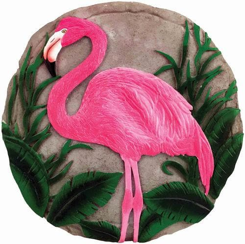 Pink Flamingo Decorative Garden Stone