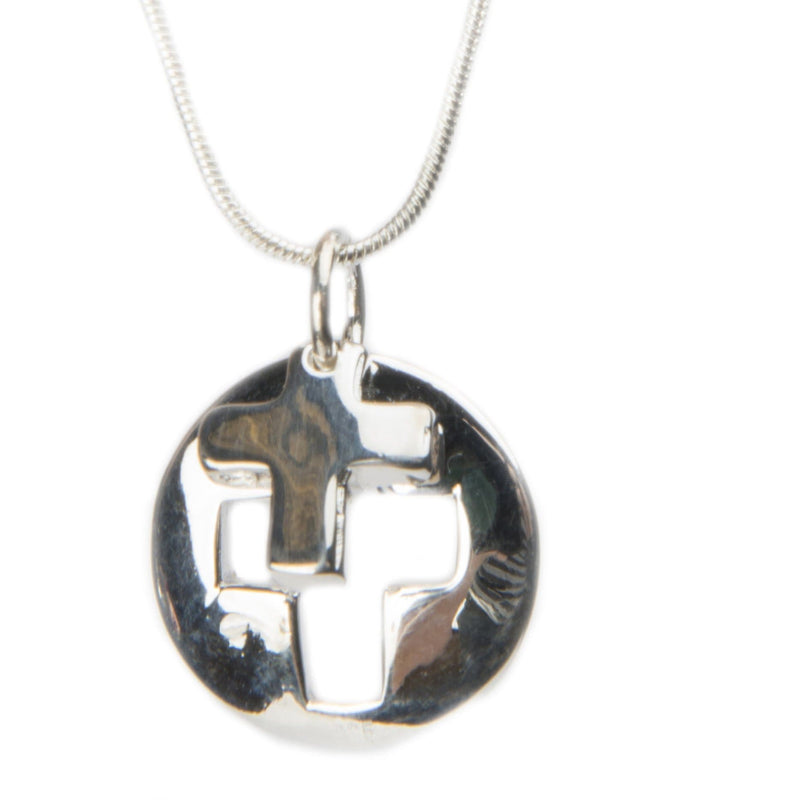 Sterling Silver Cross Pendant Necklace - The House of Awareness