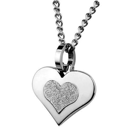 Stainless Steel Couples Heart Pendant