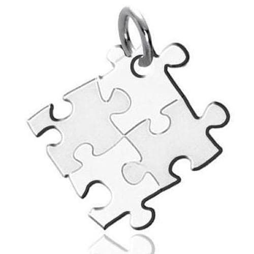 Autism Awareness Puzzle-design Stainless Steel Pendant - The House of Awareness