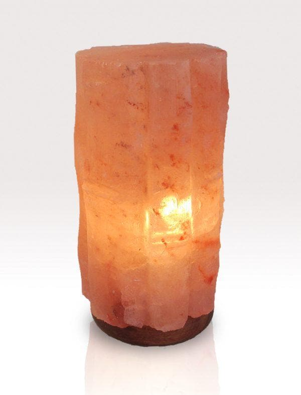 Round Bamboo Himalayan Salt Lamp - The House of Awareness