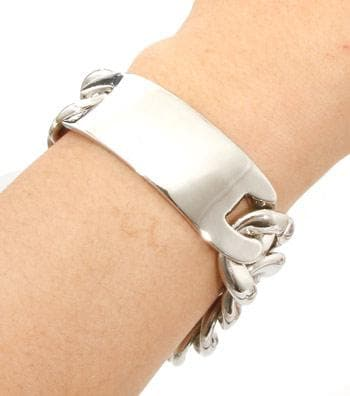 ID Bold Silver Chain Bracelet - The House of Awareness