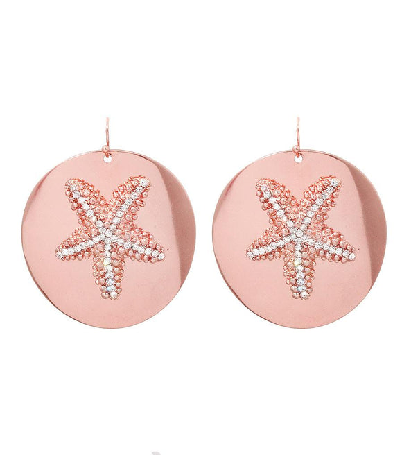 Starfish Rose Gold Earrings - The House of Awareness