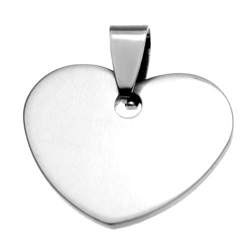 Stainless Steel Engravable Small Heart Pendant