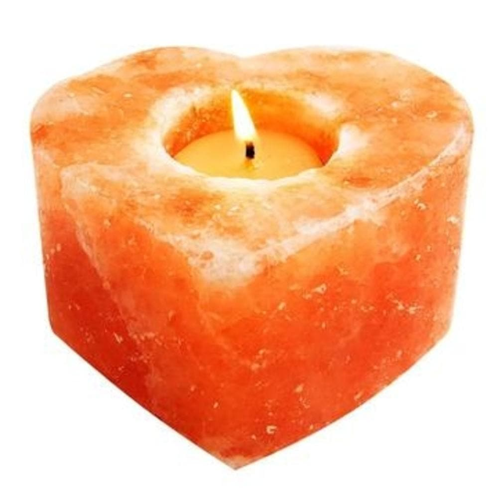 Himalayan Salt Heart Candle Holder - The House of Awareness