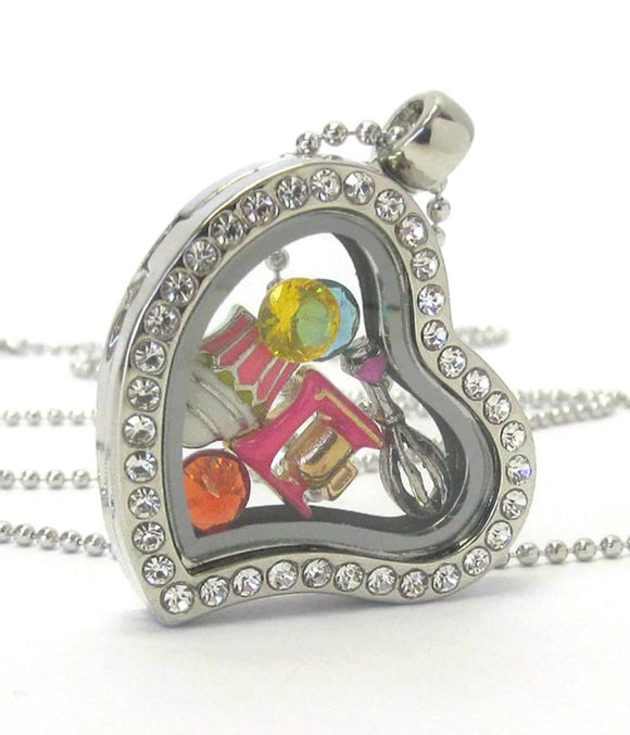 Heart Charm Locket Necklace for Cooking - The House of Awareness