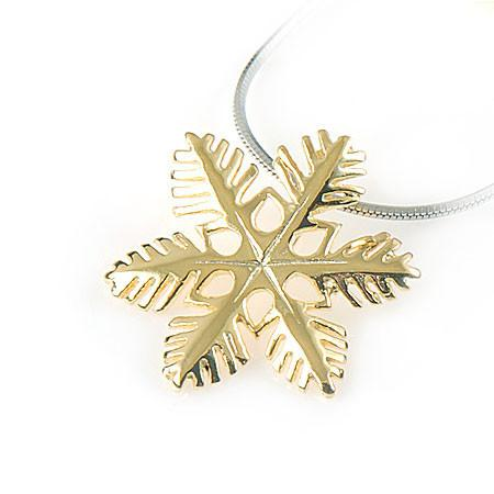 925 Gold Snowflake Pendant , Necklaces & Pendants - The House of Awareness, The House of Awareness  - 1