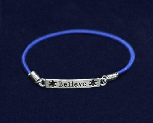 Autism and Aspergers Believe Stretch Charm Bracelet , Bracelets - The House of Awareness, The House of Awareness  - 3