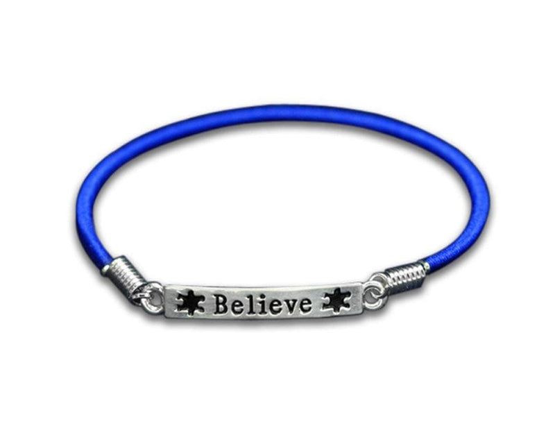 Autism and Aspergers Believe Stretch Charm Bracelet - The House of Awareness