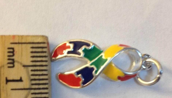 2 Puzzle Charms for Autism Awareness , Charms & Charm Bracelets - The House of Awareness, The House of Awareness  - 6