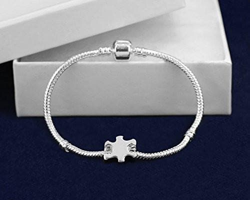 Chunky Charm Autism Puzzle Piece Bracelet - The House of Awareness