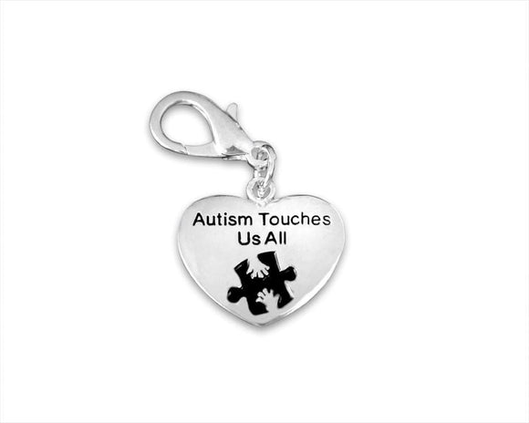 Autism Awareness Hanging Heart Charm - The House of Awareness
