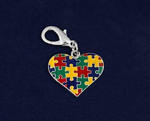 Autism Puzzle Piece Multicolored Hanging Charm - The House of Awareness