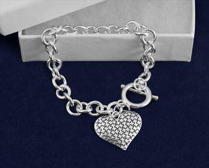 Autism Heart Puzzle Piece Bracelet - The House of Awareness