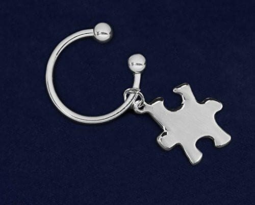 Puzzle Piece Horseshoe Key Chain - The House of Awareness