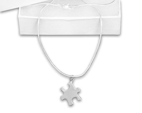 Autism Awareness Puzzle Piece Necklace - The House of Awareness