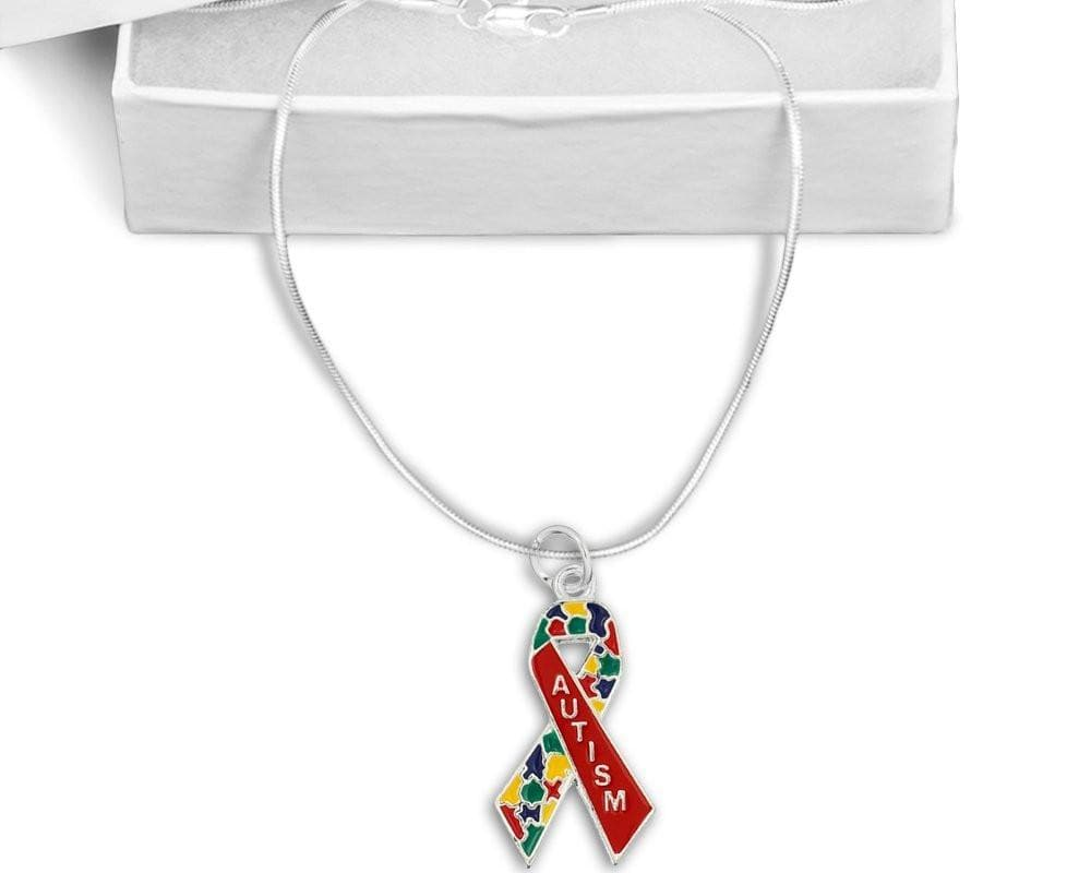 Autism Awareness Ribbon Necklace - The House of Awareness
