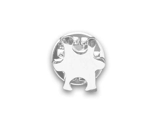 Small Silver Autism and Aspergers Awareness Puzzle Piece Tac Pin - The House of Awareness