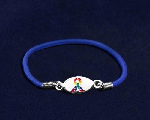 Autism ASD and Asperger Awareness Stretch Bracelet , Bracelets - The House of Awareness, The House of Awareness  - 2