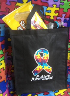 Autism Awareness Grocery Tote Bags - The House of Awareness