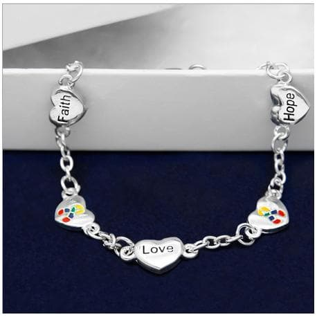 Hope, Faith, Love Autism Bracelet - The House of Awareness