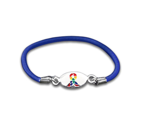 Autism ASD and Asperger Awareness Stretch Bracelet , Bracelets - The House of Awareness, The House of Awareness  - 1