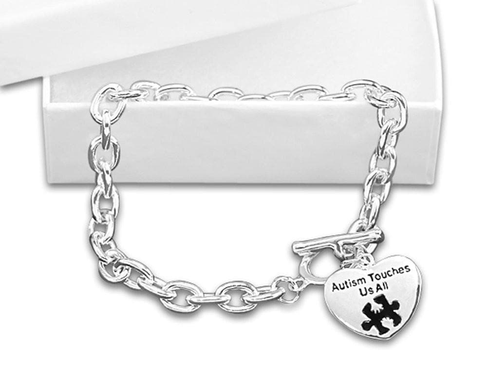 Autism and Aspergers Touches Us All Necklace and Bracelet Set - The House of Awareness