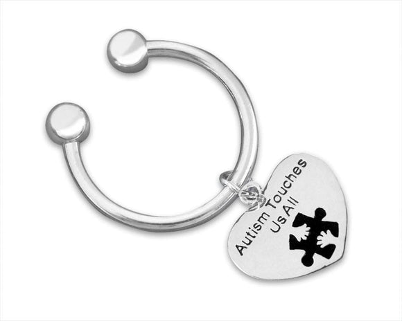 Autism Touches Us All Key Chain - The House of Awareness