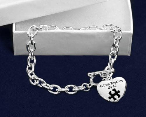 Autism and Aspergers Awareness Bracelet - Autism Touches Us All , Bracelets - The House of Awareness, The House of Awareness  - 2