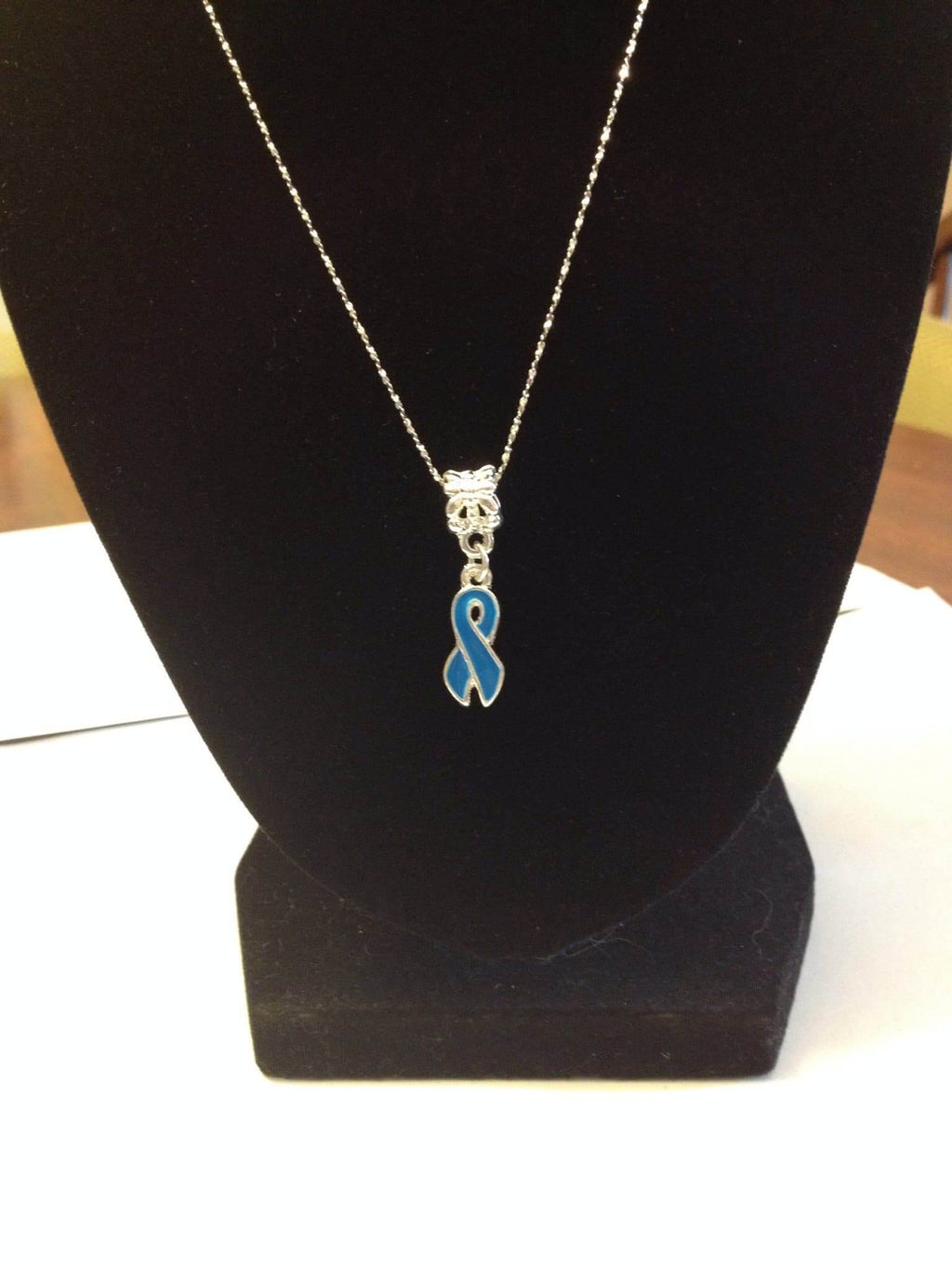 Blue Ribbon Necklace for Causes - The House of Awareness