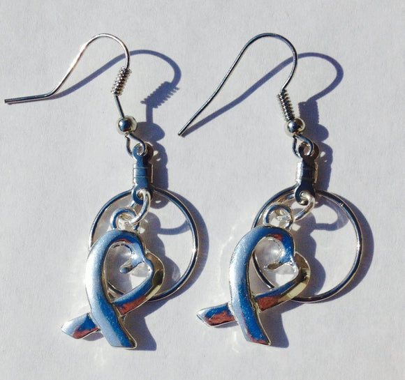 All causes Heart Charm Small Hooped Earrings - The House of Awareness