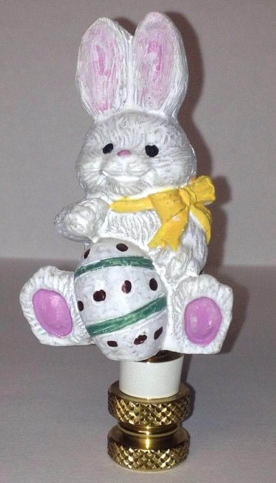 Bunny Rabbit Finial for Lamps for Easter - The House of Awareness