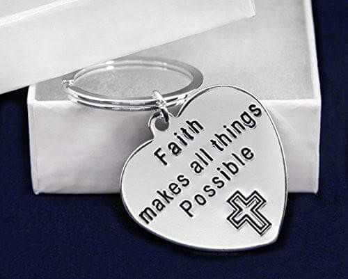 Faith Makes All Things Possible Key Chain for Causes - The House of Awareness