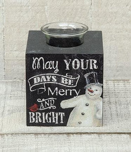 Holiday Tealight Snowman Holder