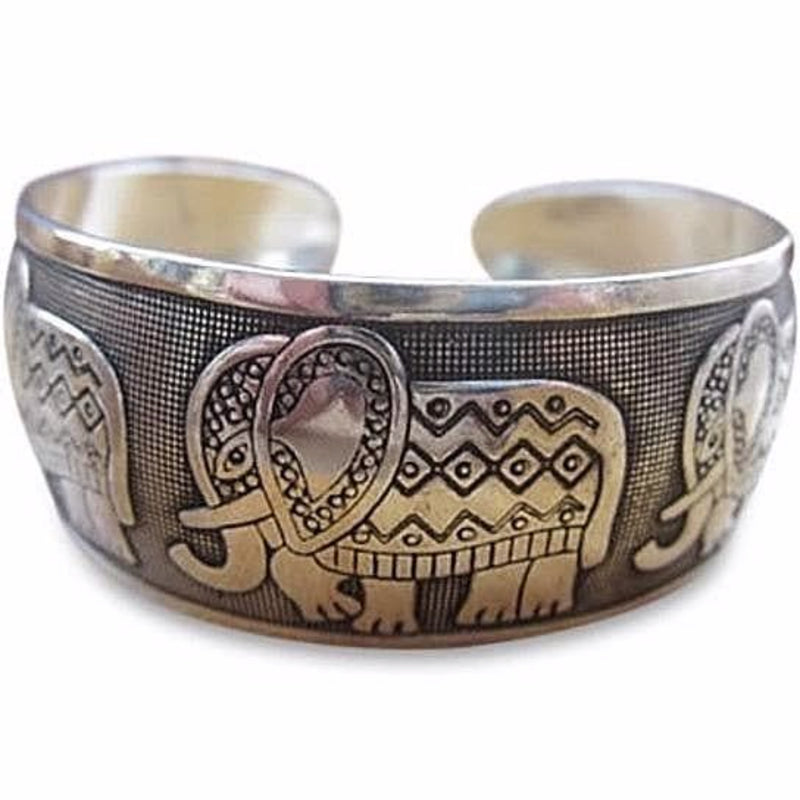 Lucky Five Elephant Cuff Bracelet - The House of Awareness