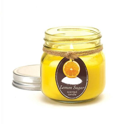 Lemon Sugar Mason Jar Candle - The House of Awareness
