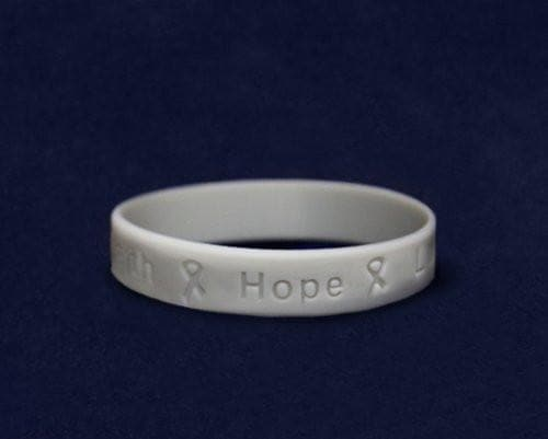 Gray Silicone Bracelet - Adult Size for Causes - The House of Awareness