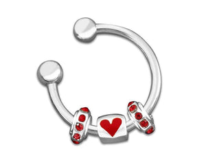 Heart Charm Key Chain for Causes - The House of Awareness